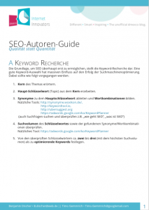 SEO Text Guide