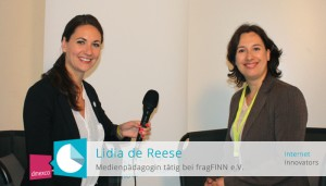 Lidia de Reese im Interview mit den Internet Innovators auf der media convention/re:publica 2015