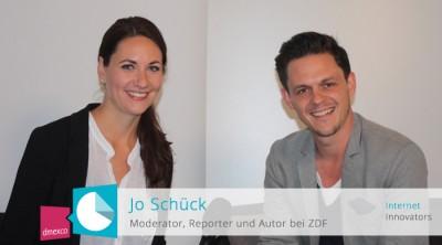 ZDF-Moderator Jo Schück sprach mit Moderatorin Anja Lange