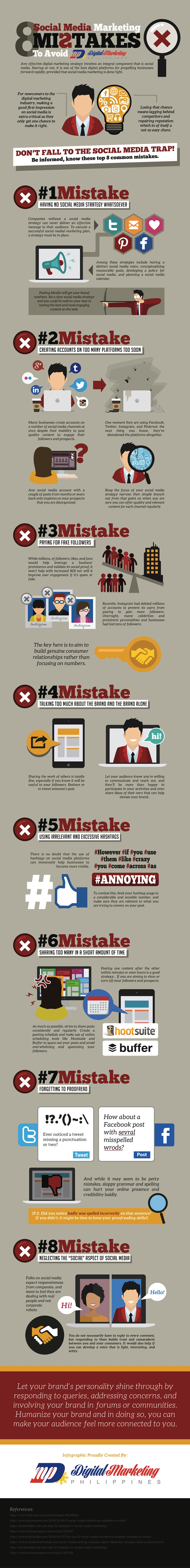 infographic 8 social media marketing mistakes