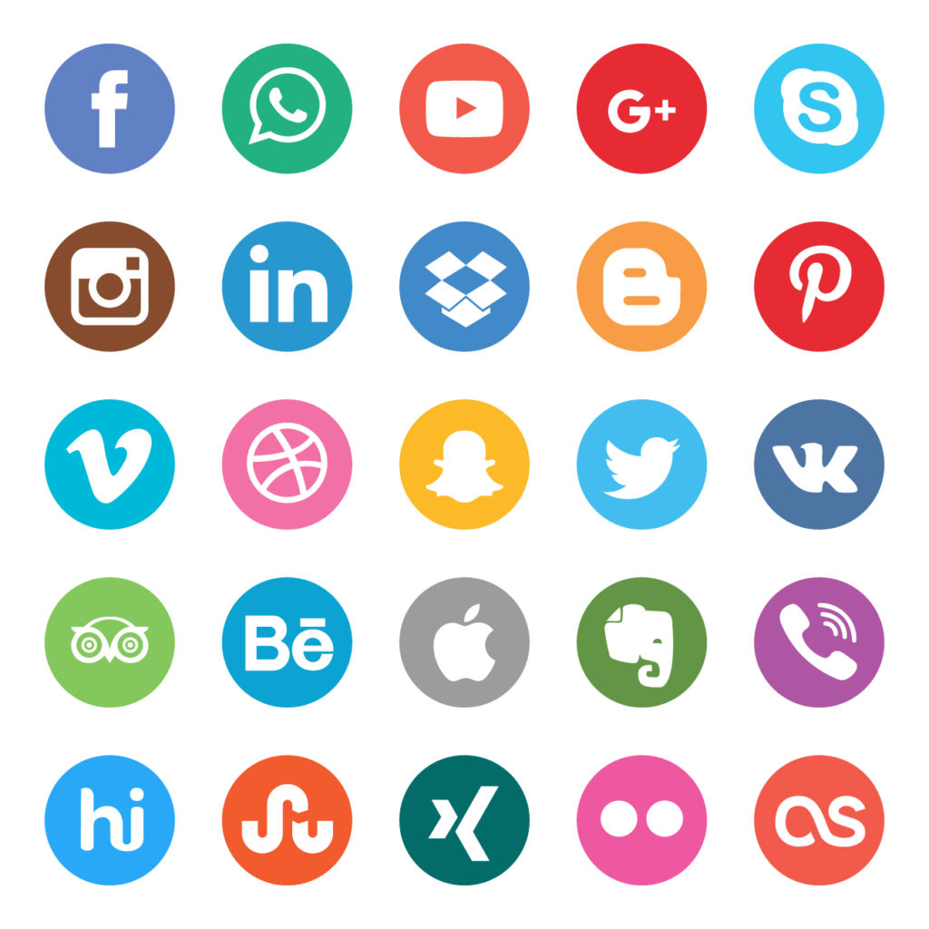 Social media marketing and platform icons Icon vector designed by Patrickss - Freepik.com