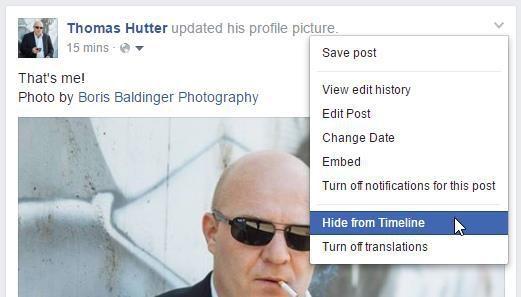 Dark Posts im eigenen Profil