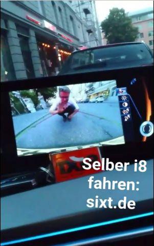 Sixt berichtet via Snapchat vom BMW i8 Test-Tag