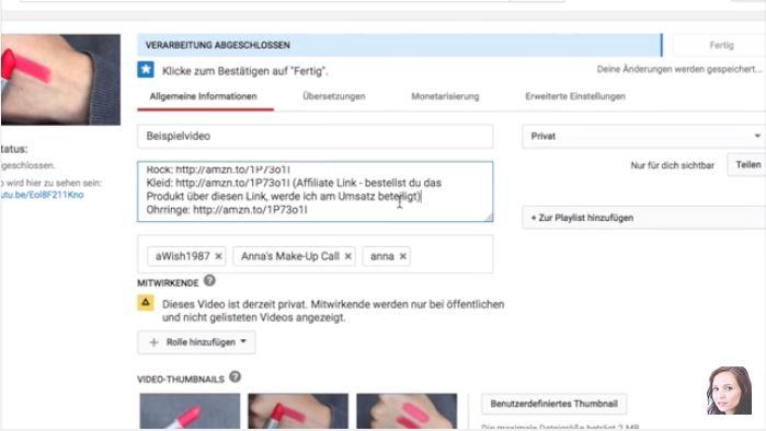Schleichwerbung auf Youtube