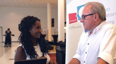 Elelta Tzegai im Interview mit Frank Schneider, Initiator der dmexco in Köln