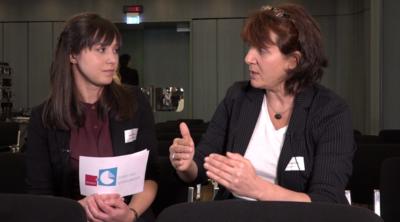 Interview der Internet Innovators mit Sabine Feierabend auf dem Stuttgarter Medienkongress 2016.