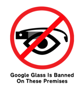 Google Glass Verbotsschild